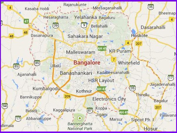 MBA Colleges Bengaluru Map